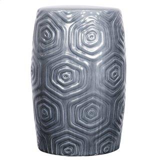 Daze Ceramic Garden Stool, Gray