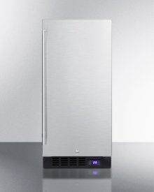 "15"" Wide Frost-free Freezer for Built-in or Freestanding Use, With Reversible Stainless Steel Door and Lock"
