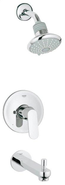 Eurosmart Cosmopolitan Pressure Balance Valve Bathtub/Shower Combo Faucet