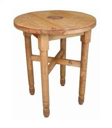 Round Leg Bar Table W/star