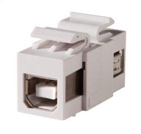 Keystone, USB Type A-B, Feed-Thru, Reversible, Cloud White