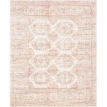 White / Persimmon Rug