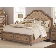 Ilana Traditional Antique Linen Queen Bed