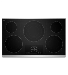 36-Inch, 5 Element Electric Cooktop with Even-Heat Technology and Touch-Activated Controls - Stainless Steel