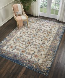 Cordoba Crd04 Ivory Blue Rectangle Rug 9'3'' X 12'9''