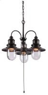 Broadcast - 3 Light Outdoor Chandelier