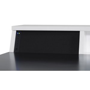 Style and technology come together to form this contemporary style desk. Th...