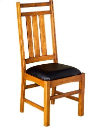 Mission Slat Side Chair w/ Leather Seat