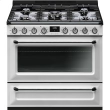 "Free-Standing Dual-Fuel Cavity ""Victoria"" Range, 36"" X 25"", White"