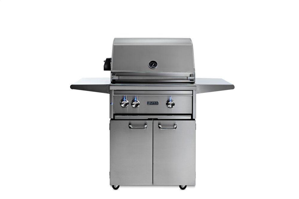 """Lynx27"""" Lynx Professional Freestanding Grill With 1 Trident And 1 Ceramic Burner And Rotisserie, Lp"""