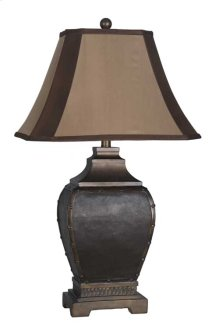 Coppery Nailhead Table Lamp