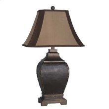 Coppery Nailhead Table Lamp