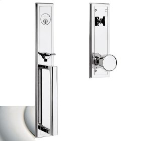 Polished Nickel with Lifetime Finish Hollywood Hills Full Escutcheon Handleset