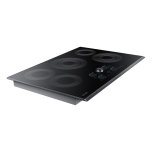 """30"""" Smart Electric Cooktop With Sync Elements In Black Stainless Steel"""