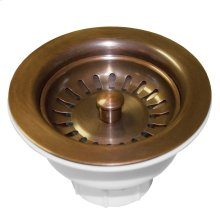 "DR320 3.5"" Basket Strainer in Solid Copper"