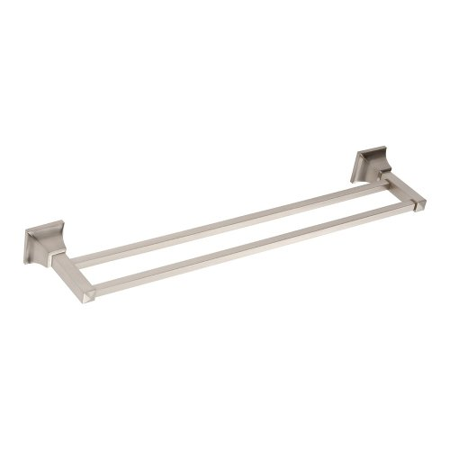 Gratitude Bath Towel Bar 24 Inch Double - Brushed Nickel