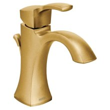 Voss brushed gold one-handle bathroom faucet