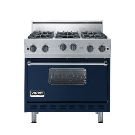 "Viking Blue 36"" Open Burner Range - VGIC (36"" wide, six burners)"