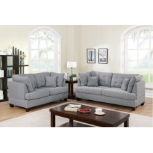 F6401 / Cat.19.p38- 2PCS SOFA SET GREY