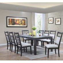 DLU-EL9282-C90-9PC  9 Piece Dining Set  Gray