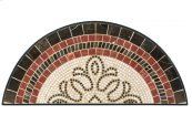 "Orvieto 39"" x 17.5"" Marble Mosaic Half Moon Console Top"