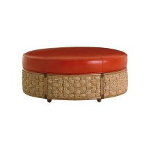St Barts Leather Ottoman