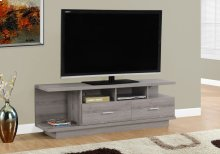 """TV STAND - 60""""L / DARK TAUPE WITH 2 DRAWERS"""