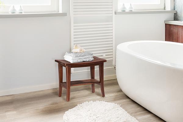 Hidden · Additional Preston Backless Non Swivel Rectangle Bath Stool    Walnut
