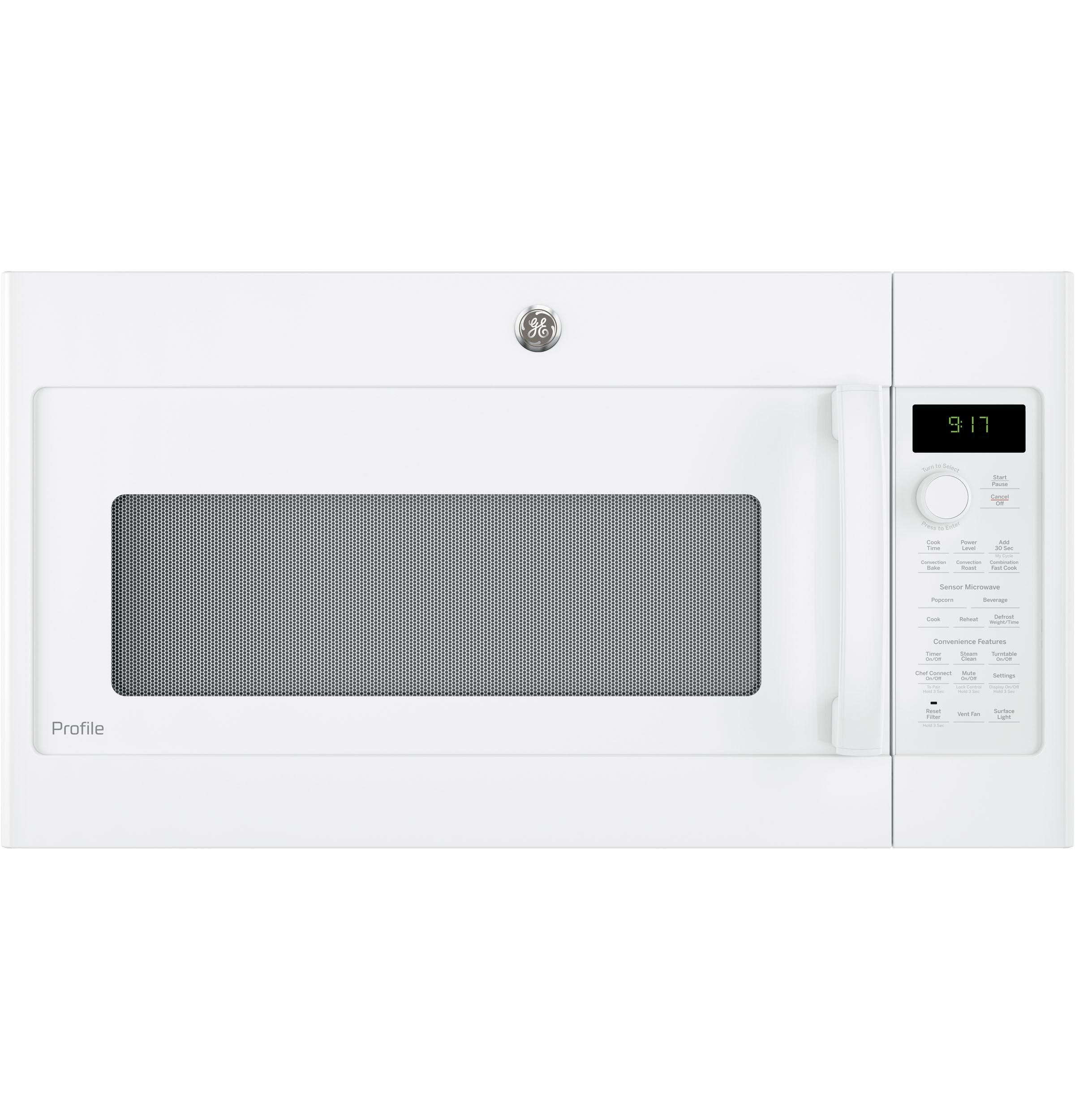 GE Profile(TM) Series 1.7 Cu. Ft. Convection Over-the-Range Microwave Oven