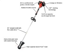 SRM-266 String Trimmer, Weed Trimmer, Powerful Straight Shaft -