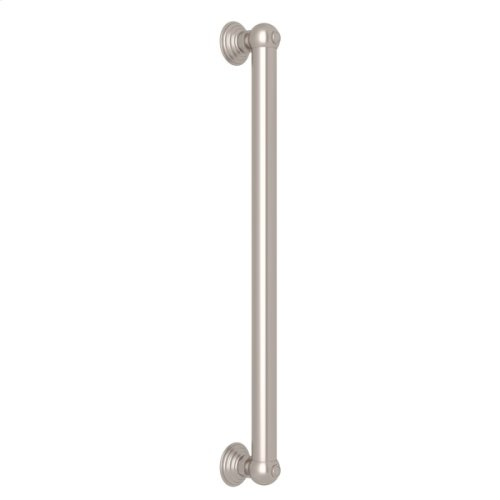 "Satin Nickel 18"" Decorative Grab Bar"