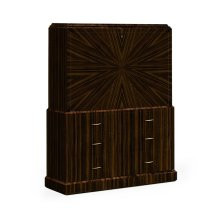 Art Deco Macassar Ebony High Lustre Secretaire