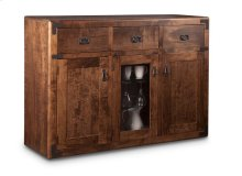 Saratoga Sideboard w/2 Wood Doors &1/Center Glass Door &3/Dwrs & 2/Wood & Glass Adjust.