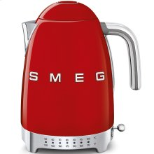 Smeg 50s Retro Style Design Aesthetic Electric Variable Temperature Kettle, Red