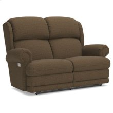 Kirkwood PowerReclineXRw Full Reclining Loveseat w/ Brass Nail Head Trim