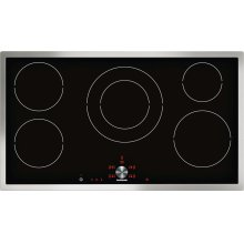 """Induction cooktop CI 491 612 Stainless steel frame Width 36"""""""