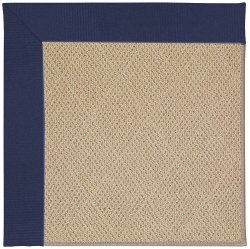 Creative Concepts-Cane Wicker Canvas Royal Navy Machine Tufted Rugs