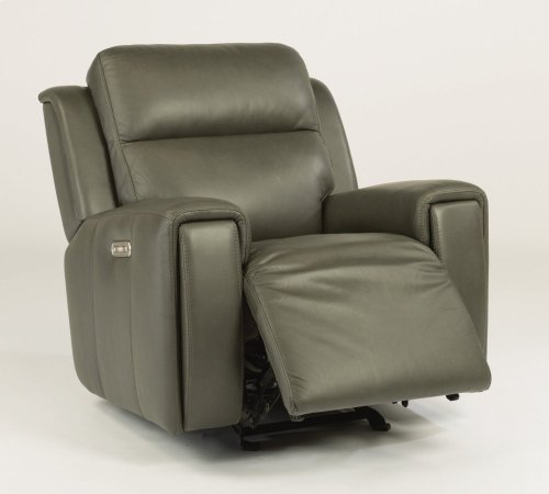 Jasper Leather Power Gliding Recliner with Power Headrest