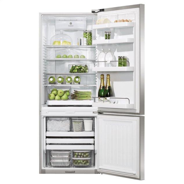 "Fisher & Paykel Freestanding Refrigerator Freezer, 25"", 13.5 cu ft, Ice & Water"