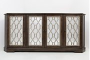 """Casa Bella Vintage Silver and Chestnut 78"""" Mirrored Console Product Image"""