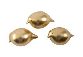 Golden Birds Set of 3, Gold Leaf, SM