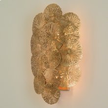 Lily Pad Wall Sconce-Antique Brass-HW