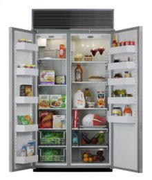 """42"""" Side-by-Side Refrigerator/Freezer (Marvel) - 42"""" Marvel Side-by-Side Refrigerator/Freezer"""