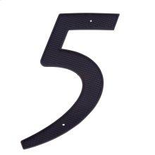 """Black 4"""" House Number """"5"""""""