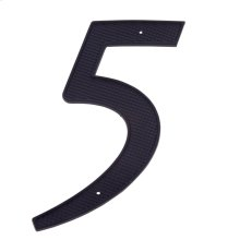 "Black 4"" House Number ""5"""