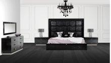 A&X Victoria Modern Black Crocodile Bedroom Set