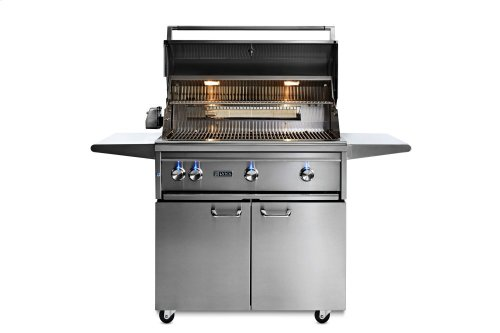 """36"""" Lynx Professional Freestanding Grill with 1 Trident and 2 Ceramic Burners and Rotisserie, NG"""