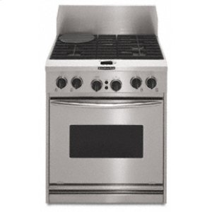 """KitchenAid30"""" Width 4 Burners Porcelain-on-Steel Cooktop True Convection Oven Architect® Series Dual Fuel Freestanding or Slide-In Range"""