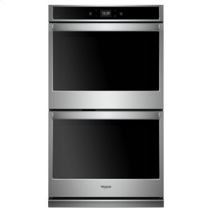 Whirlpool® 8.6 cu. ft. Smart Double Wall Oven with Touchscreen - Stainless Steel Product Image