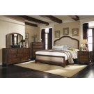 Laughton Rustic Brown Upholstered Queen Bed Product Image